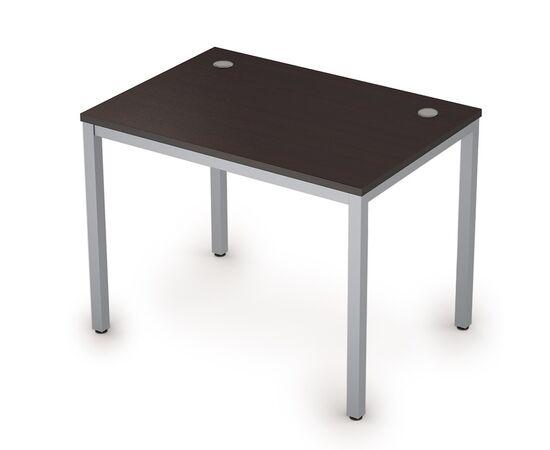 Стол прямой письменный на металлокаркасе (сечение опоры 40*40) AVANCE ALSAV 6М.007 Венге/ал. матовый 1000х700х750, Цвет товара: Венге /Алюминий матовый