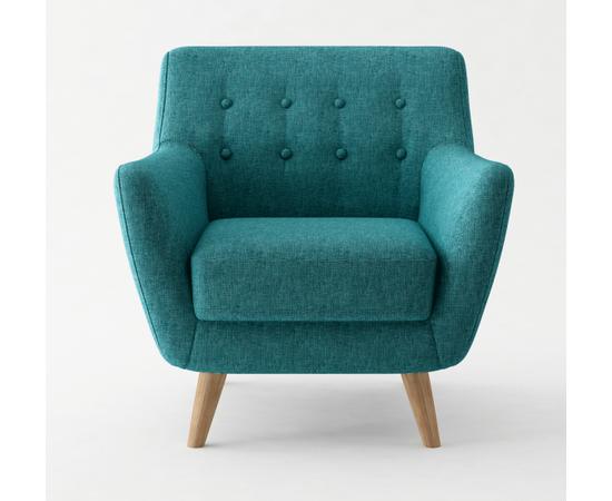 Кресло мягкое Picasso темно-бирюзовый Bradex Home, Цвет товара: темно-бирюзовый