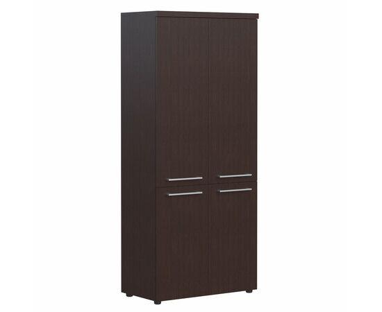 Шкаф для документов с глухими средними и малыми дверьми AHC 85.3 Венге магия Skyland ALTO 850х430х1930, Цвет товара: Венге магия