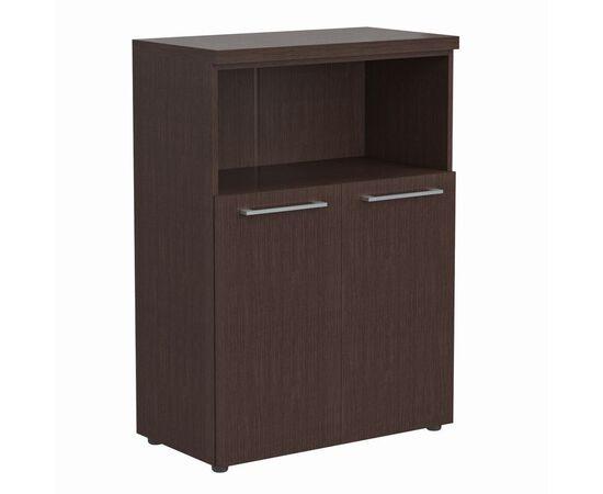 Шкаф средний для документов с глухими малыми дверьми и топом Skyland ALTO AMC 85.3 Венге магия 850х430х1165, Цвет товара: Венге магия
