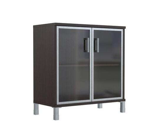 Шкаф для документов с дверьми низкий широкий В-410.4 Венге магия Skyland Born 900х450х920, Цвет товара: Венге магия