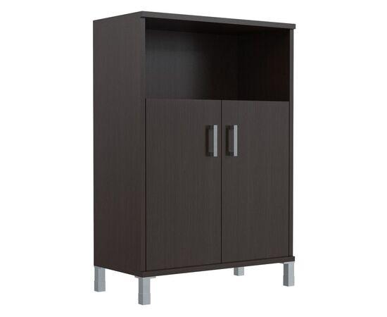 Шкаф для документов с дверьми средний широкий В-420.2 Венге магия Skyland Born 900х450х1286