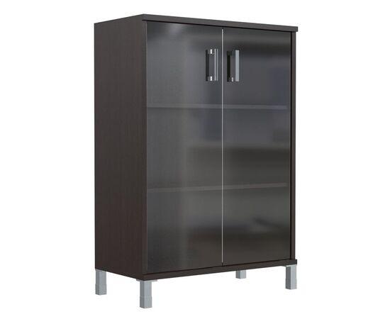 Шкаф для документов с дверьми стекло тонированное широкий В-420.8 Венге магия Skyland Born 900х450х1286, Цвет товара: Венге магия