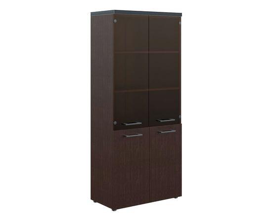 Шкаф для документов комбинированный с топом THC 85.2 Венге 850х1930х430 Torr, Цвет товара: Венге