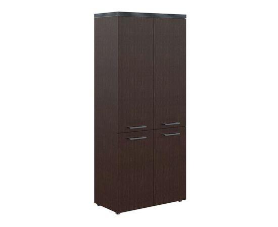 Шкаф для документов с глухими средними и малыми дверьми THC 85.3 Венге 850х1930х430 Torr, Цвет товара: Венге