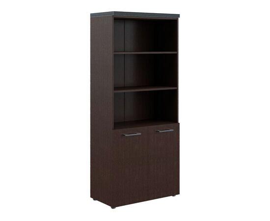 Шкаф для документов с 1 комплектом глухих малых дверей и топом THC 85.5 Венге 850х1930х430 Torr, Цвет товара: Венге