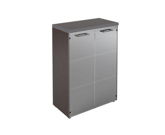 Шкаф для документов со стеклянными дверьми и топом TMC 85.2 Венге 850х1165х430 Torr, Цвет товара: Венге
