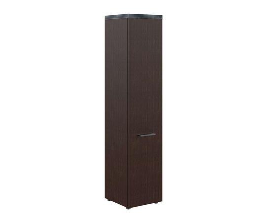 Шкаф узкий для документов с глухой дверью и топом THC 42.1 Венге 426х430х1930 Torr, Цвет товара: Венге