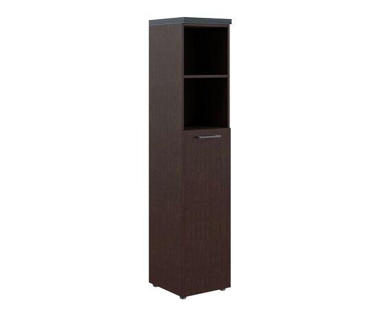 Шкаф узкий для документов с глухой средней дверью и топом THC 42.6 Венге 426х430х1930 Torr, Цвет товара: Венге