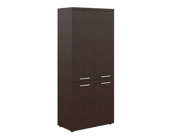 Шкаф для документов с глухими средними и малыми дверьми THC 85.3 Венге 850х430х1930 Torr Z, Цвет товара: Венге магия