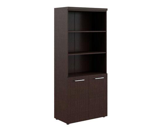 Шкаф для документов с 1 комплектом глухих малых дверей и топом THC 85.5 Венге 850х430х1930 Torr Z, Цвет товара: Венге магия