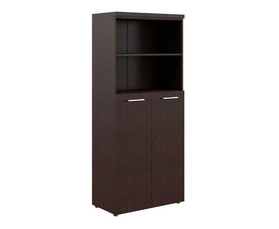 Шкаф для документов с глухими средними дверьми и топом THC 85.6 Венге 850х430х1930 Torr Z, Цвет товара: Венге магия