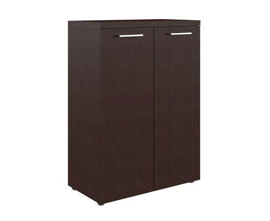 Шкаф для документов с глухими средними дверьми и топом TMC 85.1 Венге 850х430х1165 Torr Z, Цвет товара: Венге магия
