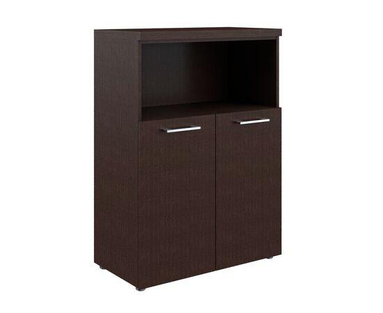 Шкаф для документов с глухими малыми дверьми и топом TMC 85.3 Венге 850х430х1165 Torr Z, Цвет товара: Венге магия
