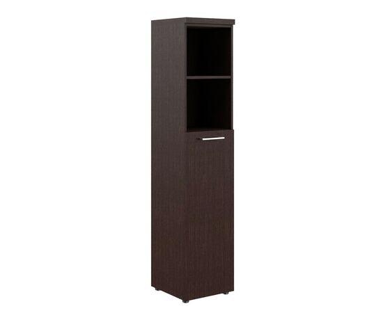 Шкаф узкий для документов с глухой средней дверью и топом THC 42.6 Венге 426х430х1930 Torr Z, Цвет товара: Венге магия