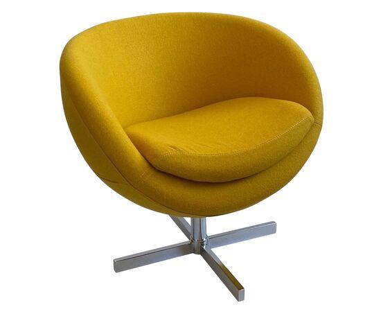 Дизайнерское кресло A686 желтое Beonmebel, Цвет товара: Желтый