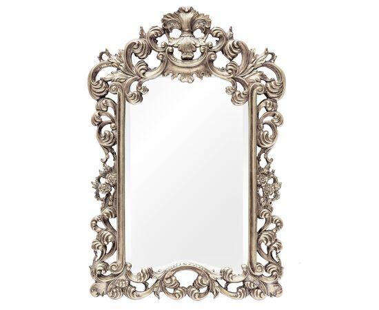 Зеркало настенное в резной раме Bogeme Silver (Богема) Art-zerkalo
