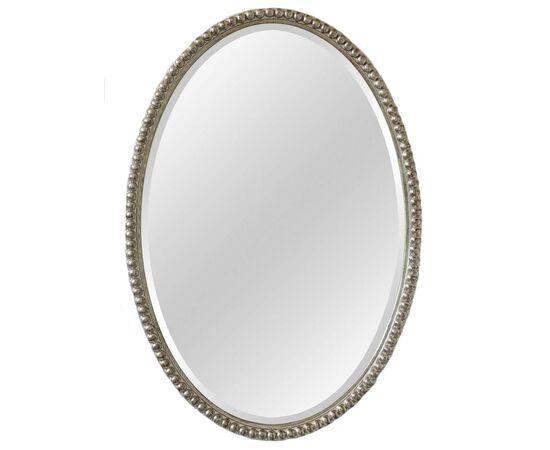 Зеркало овальное настенное в раме Globo Silver (Глобо) Art-zerkalo