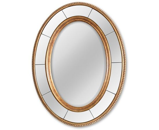 Зеркало настенное овальное в раме Lorena Gold (Лорена) Art-zerkalo
