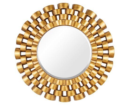 Зеркало настенное в раме модерн Nexus Gold (Нексус) Art-zerkalo
