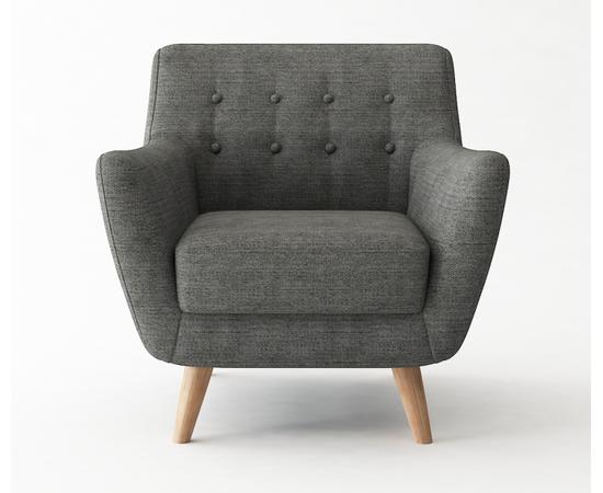 Кресло мягкое Picasso темно-серый Bradex Home, Цвет товара: темно-серый