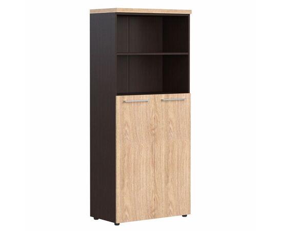 Шкаф для документов с глухими средними дверьми AHC 85.6 Дуб девон Skyland ALTO 850х430х1930, Цвет товара: Дуб девон