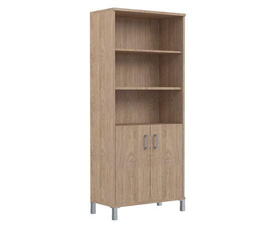 Шкаф для документов высокий с глухими малыми дверьми В-430.2 Дуб девон Skyland Born 900х435х1904, Цвет товара: Дуб девон