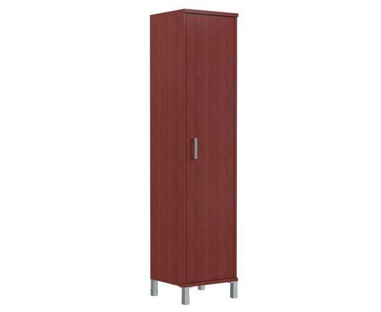 Шкаф-колонка высокая с глухой дверью для документов В-431.6 Бургунди Skyland Born 475х435х1904, Цвет товара: бургунди