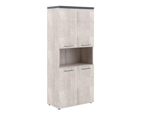 Шкаф для документов с 2-мя комплектами глухих малых дверей и топом THC 85.4 Дуб Каньон 850х1930х430 Torr, Цвет товара: Дуб Каньон