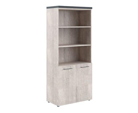 Шкаф для документов с 1 комплектом глухих малых дверей и топом THC 85.5 Дуб Каньон 850х1930х430 Torr, Цвет товара: Дуб Каньон