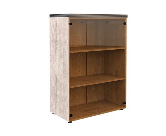 Шкаф для документов со стеклянными дверьми и топом TMC 85.2 Дуб Каньон 850х1165х430 Torr, Цвет товара: Дуб Каньон