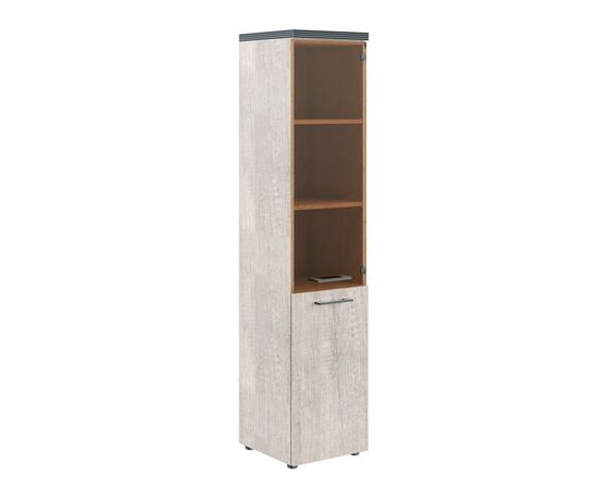Шкаф узкий для документов комбинированная с топом THC 42.2 Дуб Каньон 426х430х1930 Torr, Цвет товара: Дуб Каньон