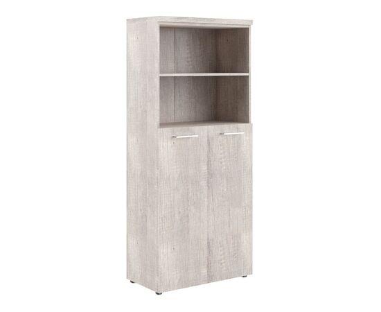 Шкаф для документов с глухими средними дверьми и топом THC 85.6 Дуб Каньон 850х430х1930 Torr Z, Цвет товара: Дуб Каньон