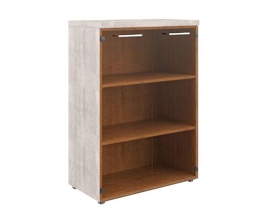Шкаф для документов со стеклянными дверьми и топом TMC 85.2 Дуб Каньон 850х430х1165 Torr Z, Цвет товара: Дуб Каньон