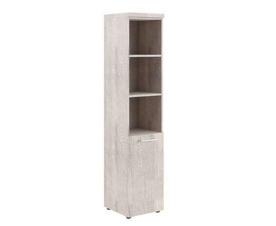 Шкаф узкий для документов с глухой малой дверью и топом THC 42.5 Дуб Каньон 426х430х1930 Torr Z, Цвет товара: Дуб Каньон