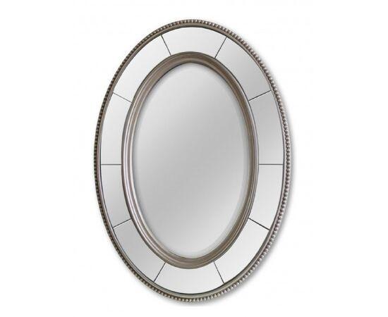 Зеркало настенное овальное в раме Lorena Silver (Лорена) Art-zerkalo